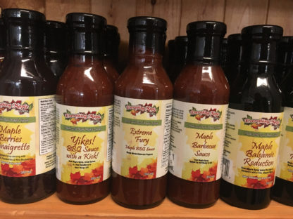 Maple Sauces only available for pickup at our on farm stores.